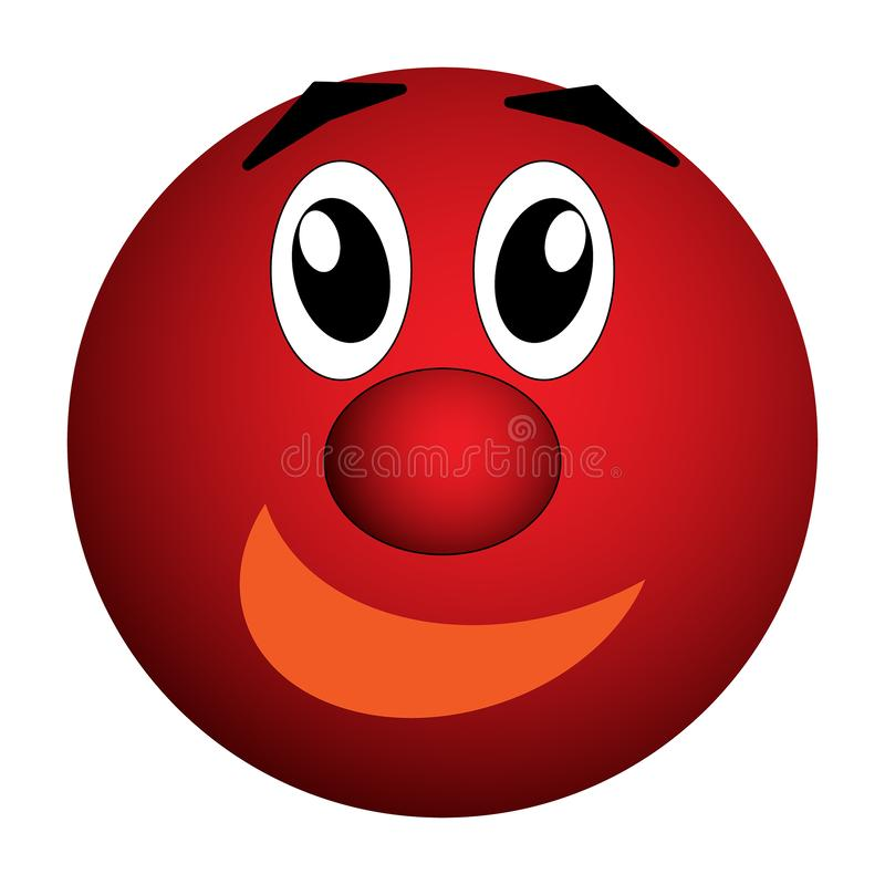 兴高采烈,快乐的快乐的眼睛和微笑 库存例证