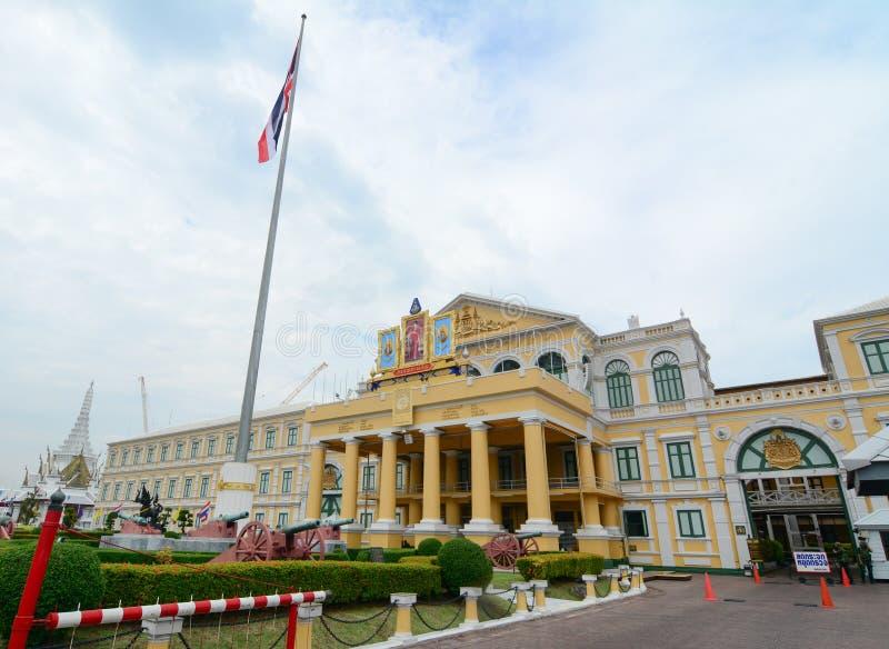 兵部建设在曼谷,泰国 免版税库存图片