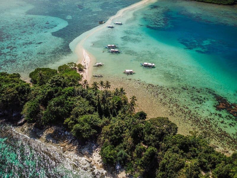 其中一个菲律宾的最美丽的海岛,蛇海岛 库存图片