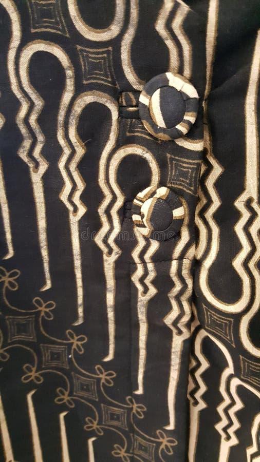其中一个蜡染布的爪哇经典样式 免版税库存照片