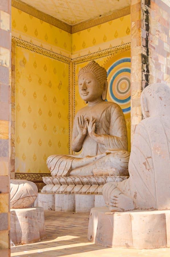 其中一座寺庙在佛教中心在Oudong, Cambodia' 库存照片