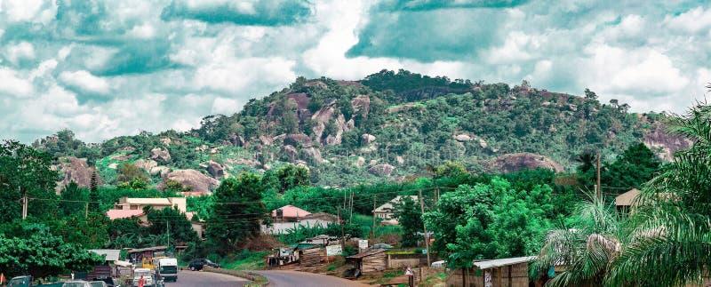 其中一Ekiti小山在尼日利亚 库存照片