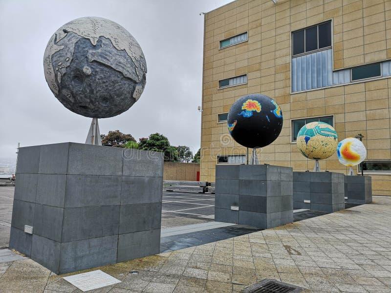 其他世界地球Te爸爸博物馆外在惠灵顿中部 库存照片