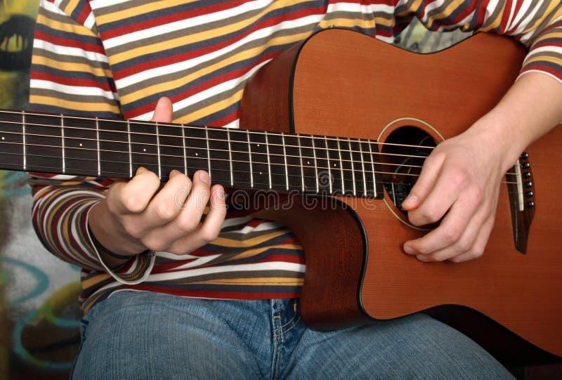 其他照片使用看见的吉他 免版税库存图片