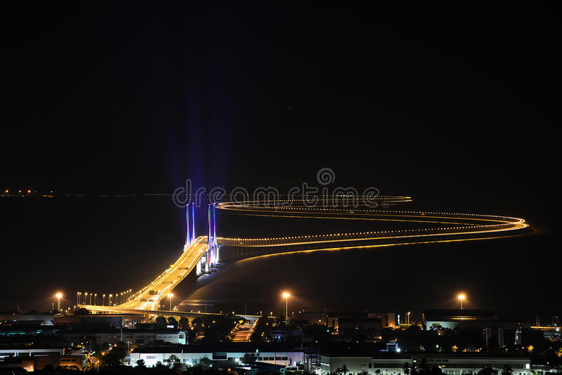 其次槟榔岛桥梁 免版税库存图片