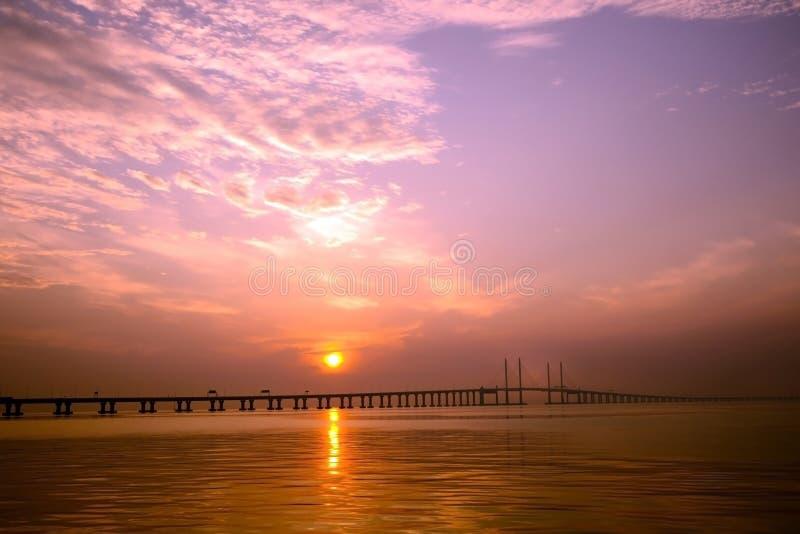 其次槟榔岛桥梁 库存图片