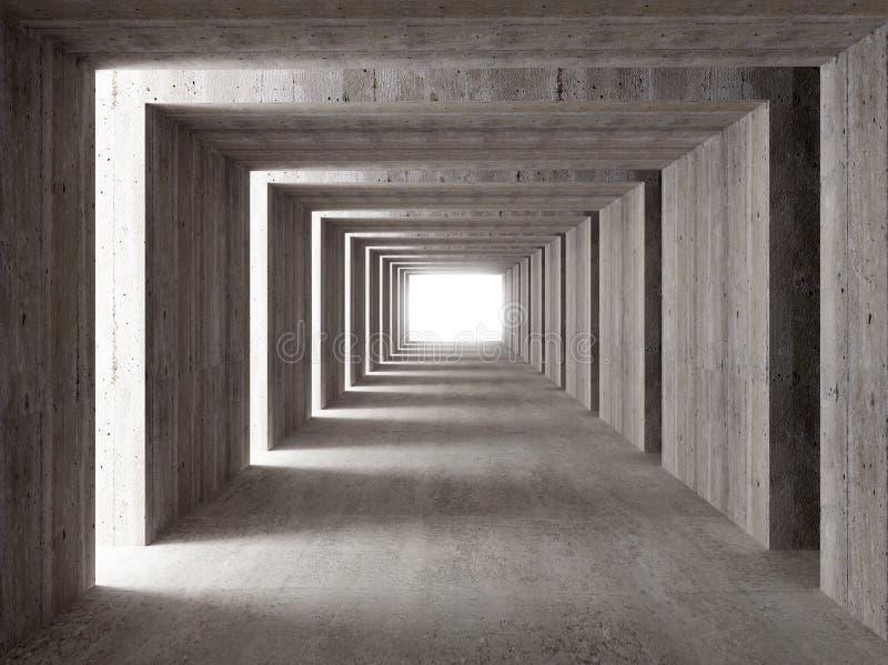 具体侧向光隧道 向量例证