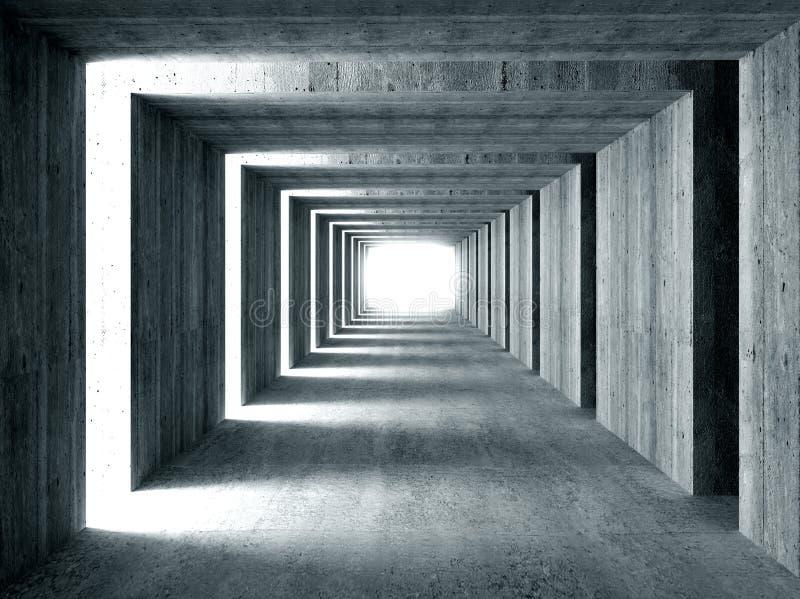 具体侧向光隧道 库存例证