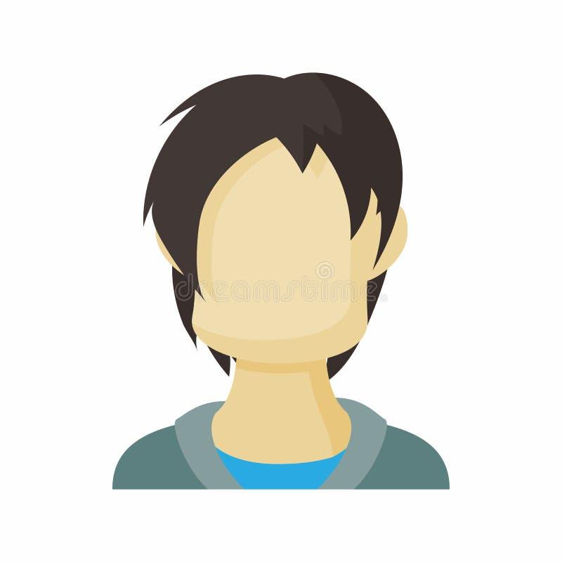 具体化人少年象,动画片样式 皇族释放例证