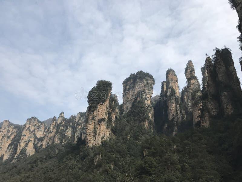 具体化公园张家界山自然 图库摄影