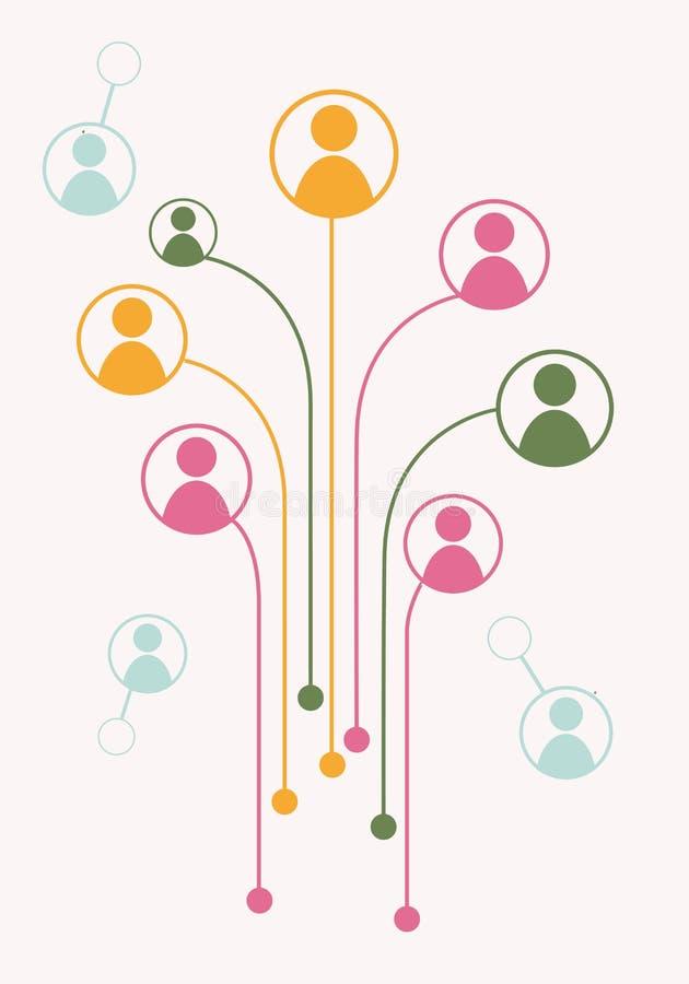 具体化成长树连接 向量例证