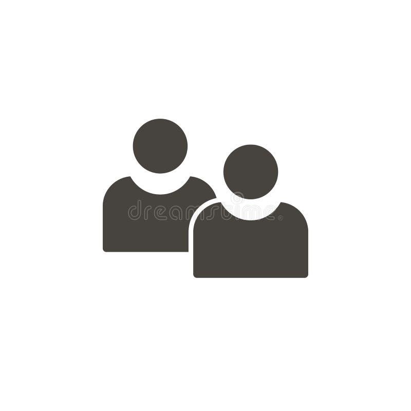 具体化,用户导航象 简单的元素illustrationAvatars,用户导航象 r 库存例证