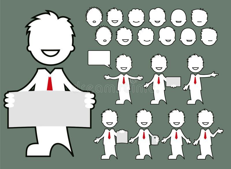 具体化-字符企业姿势 库存图片