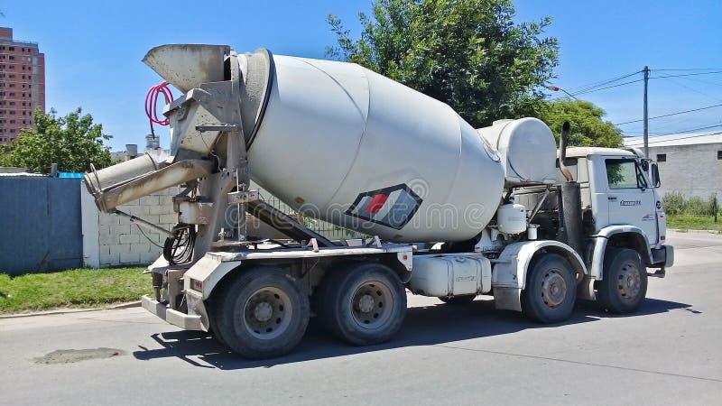 具体卡车工作 免版税图库摄影