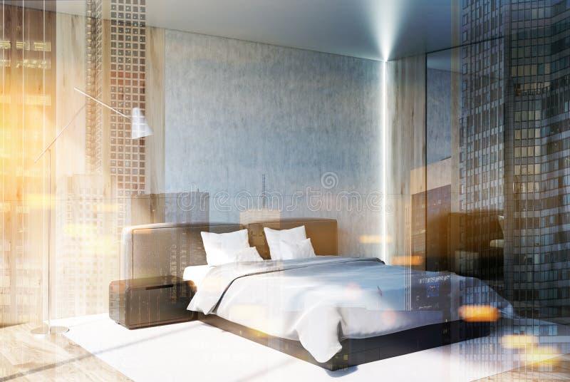具体和木卧室,支持定调子 向量例证