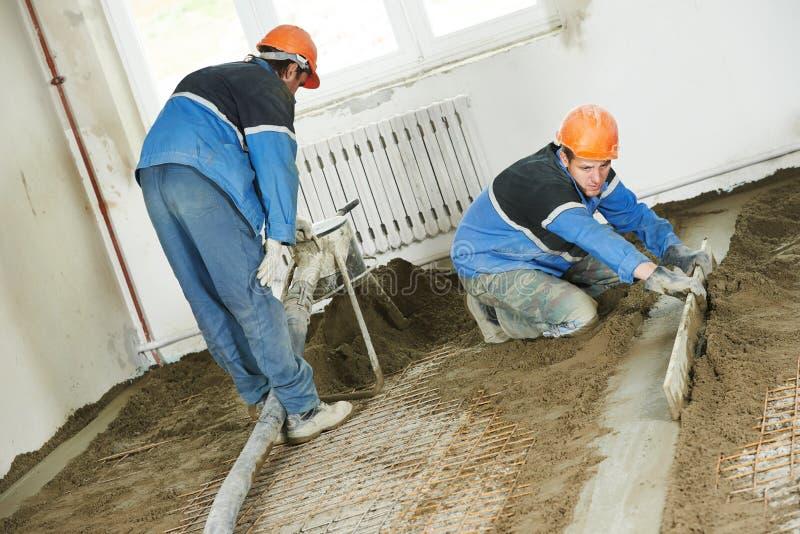 具体楼层石膏工工作工作者 库存照片