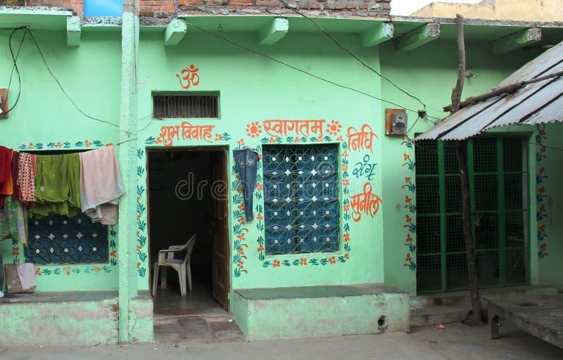 具体温室印度小镇 库存图片