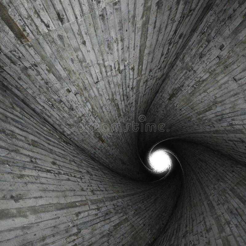 具体螺旋隧道 库存图片