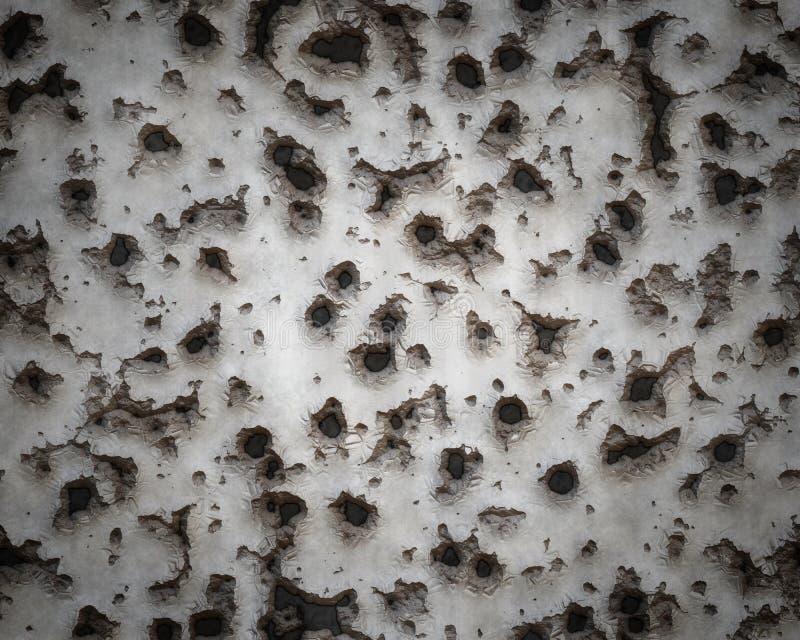 具体被撕毁的墙壁战争 皇族释放例证