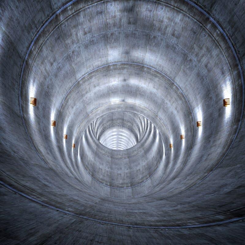 具体隧道 向量例证