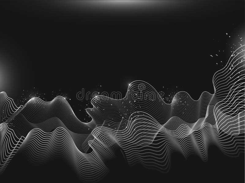 具有动态颗粒波动运动效果组合物的阵列 皇族释放例证