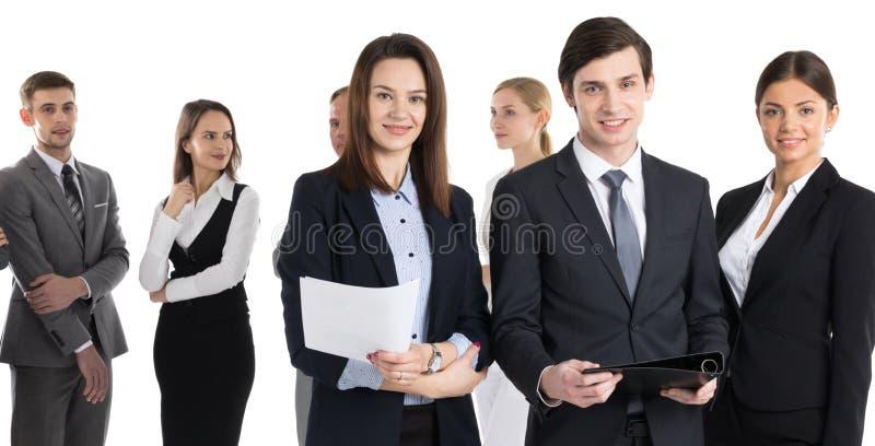 具有合同的业务团队 库存照片