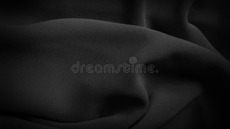 具有复制空间的黑色织物纹理背景 免版税库存照片