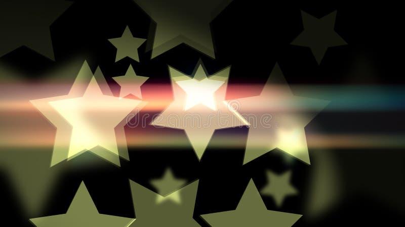 具有复古星形的薄膜 免版税库存照片