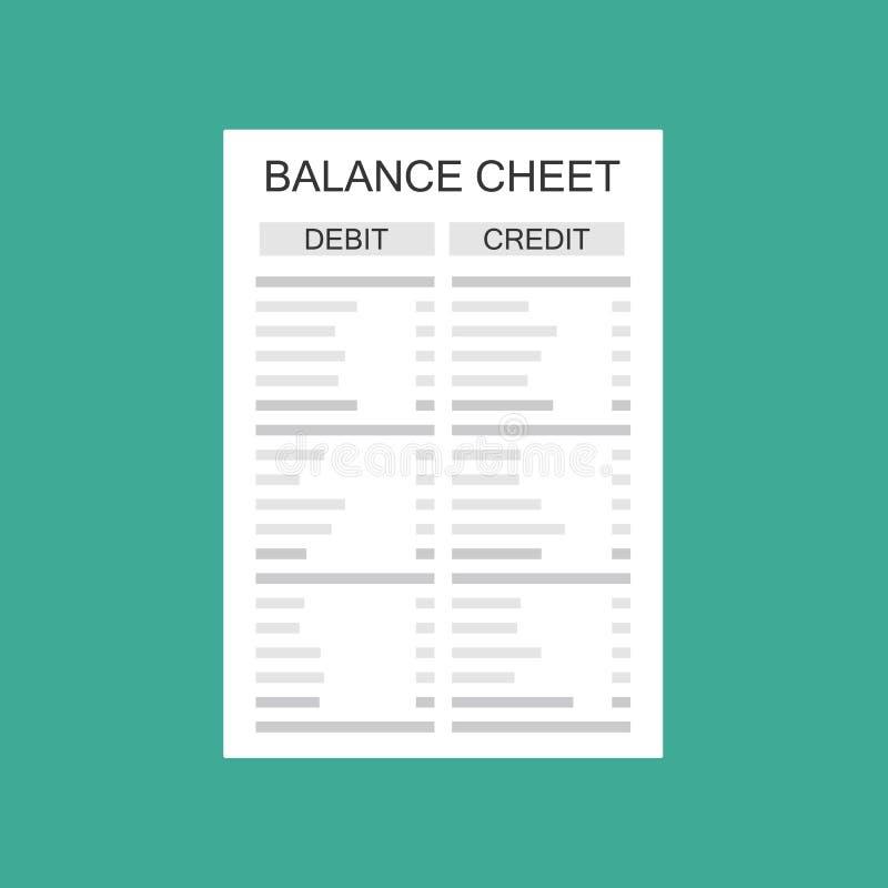 具有报表和计算器的会计会计会检查货币余额 财务报告报表和文件 会计,记账, 向量例证