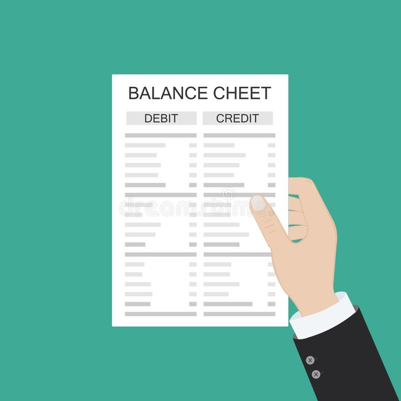 具有报表和计算器的会计会计会检查货币余额 财务报告报表和文件 会计,记账, 皇族释放例证