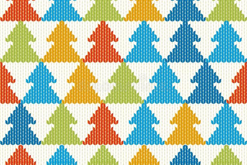 具有树状图案的无缝纺织品圣诞背景 库存照片