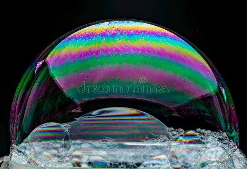 具有虹膜的肥皂膜 库存图片