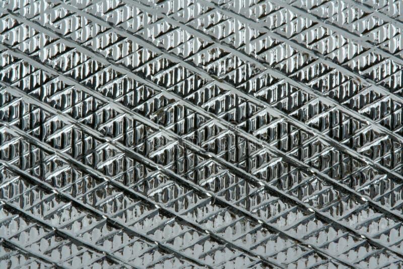 具沟的金属表面 免版税库存照片