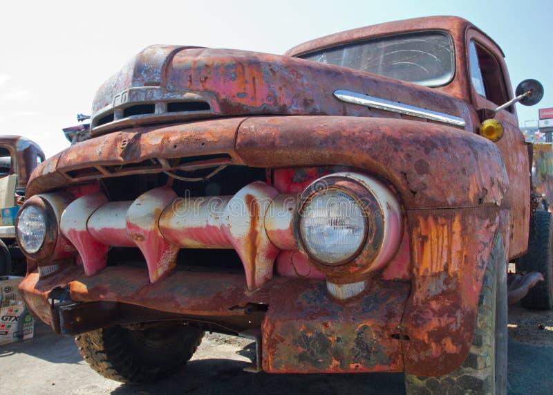 经典之作1951年福特卡车 图库摄影