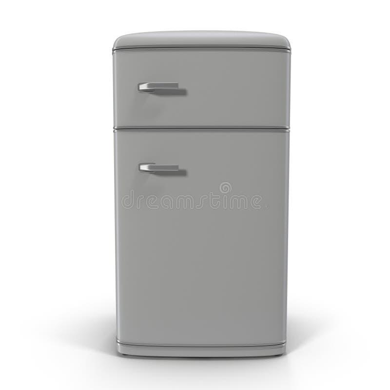 经典冰箱 查出在白色 皇族释放例证