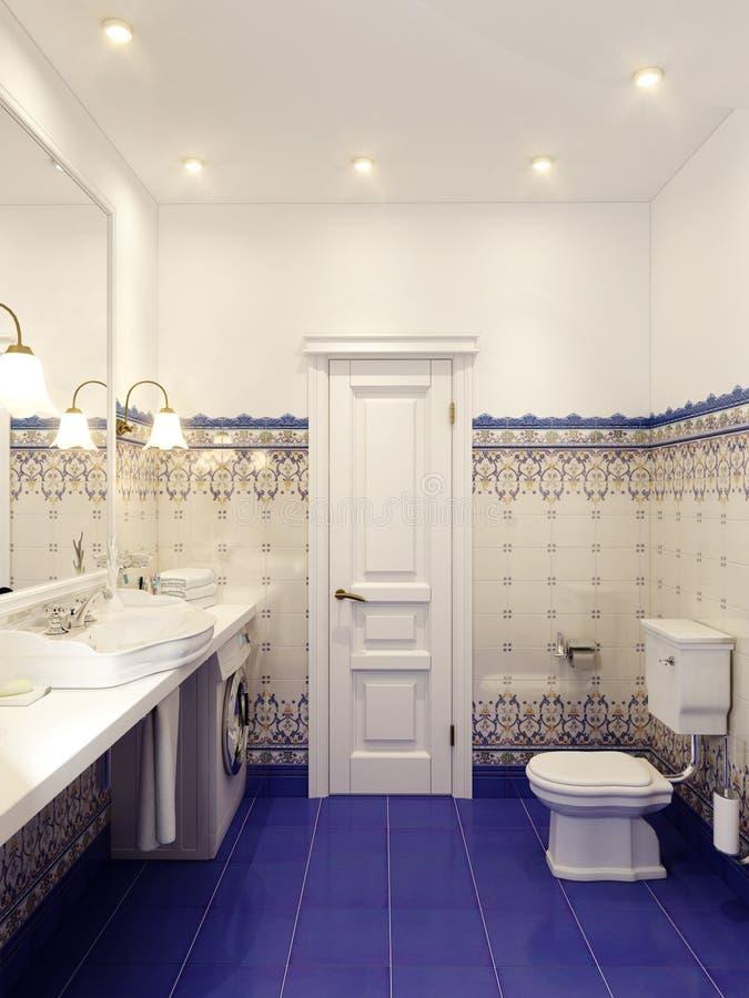 经典卫生间室内设计 向量例证
