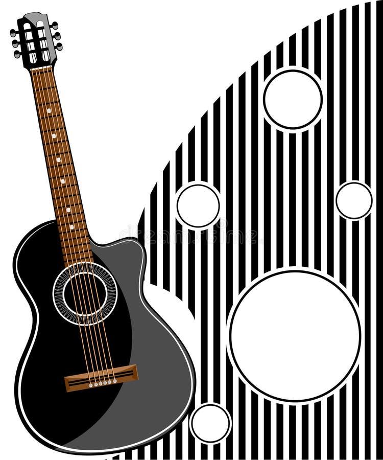 经典吉他传染媒介例证 皇族释放例证