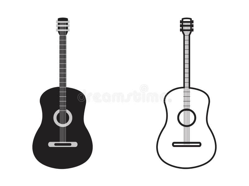 经典吉他概述 向量例证