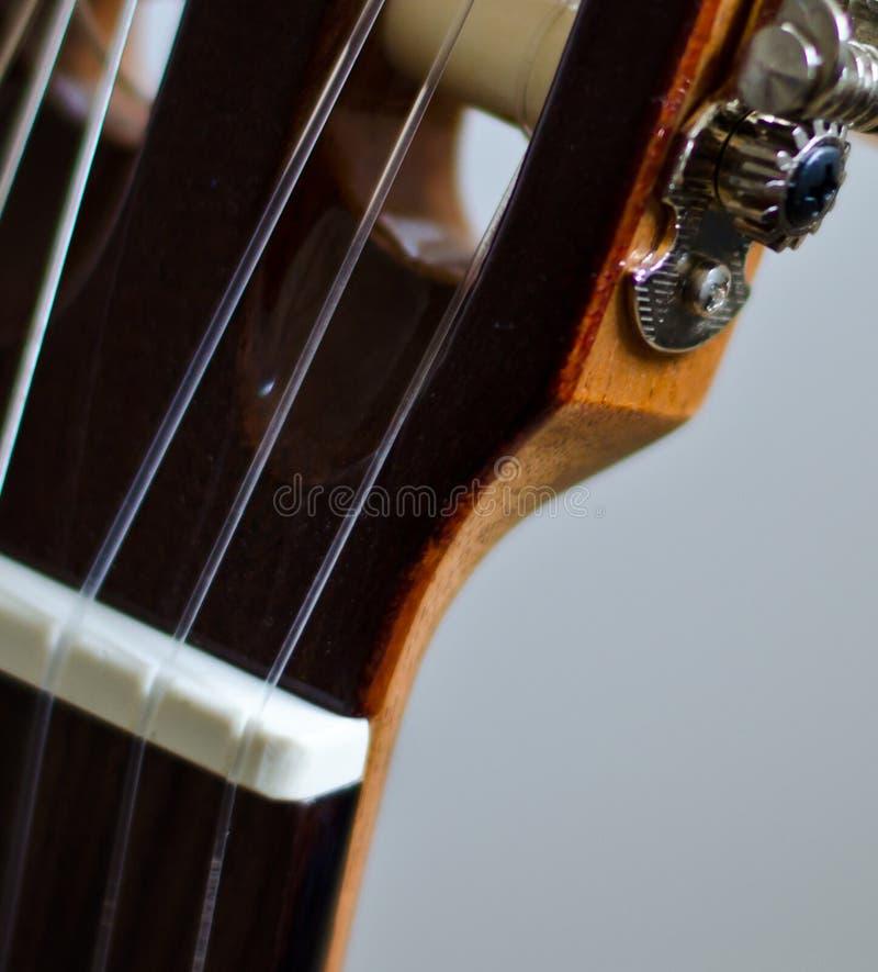 经典吉他脖子 免版税库存照片