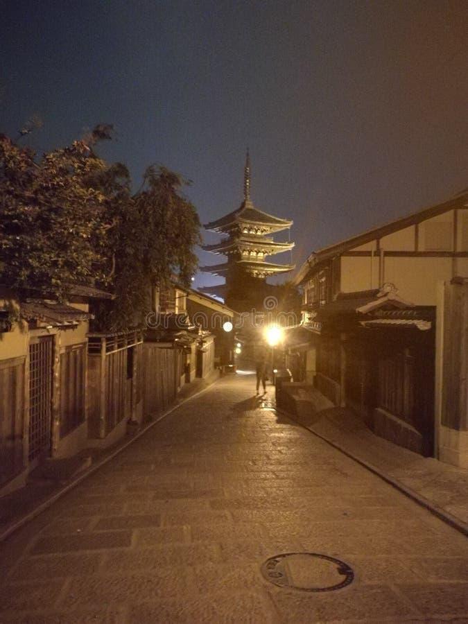 典型京都的寺庙 免版税库存图片