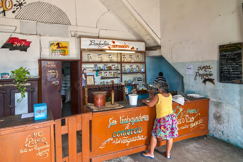 典型的古巴杂货店 库存图片