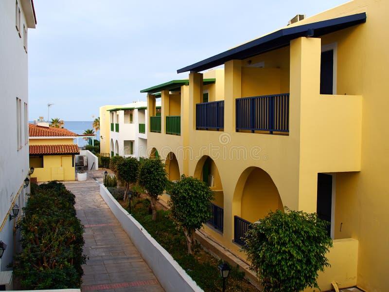 典型的地方地中海塞浦路斯的样式房子塞浦路斯 免版税库存图片