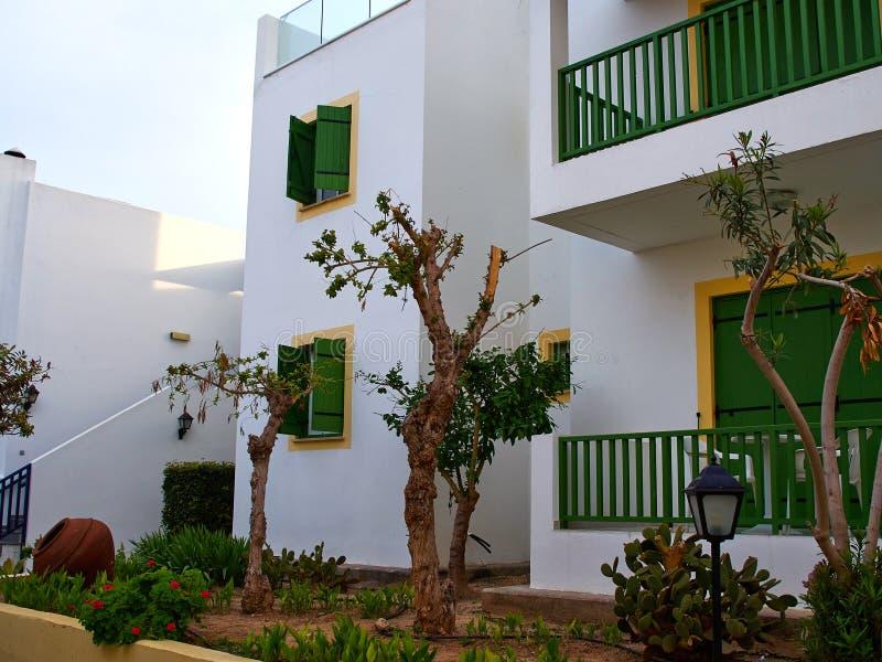 典型的地方地中海塞浦路斯的样式房子塞浦路斯 免版税库存照片