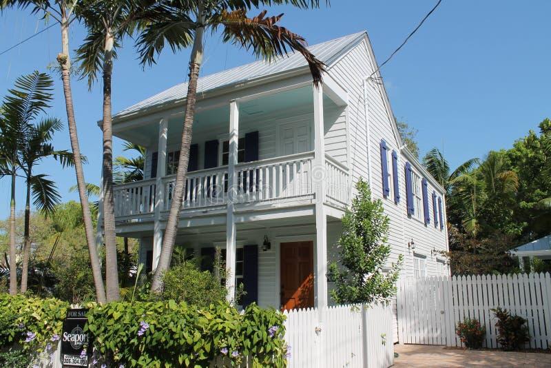 典型的基韦斯特岛房子 免版税库存照片
