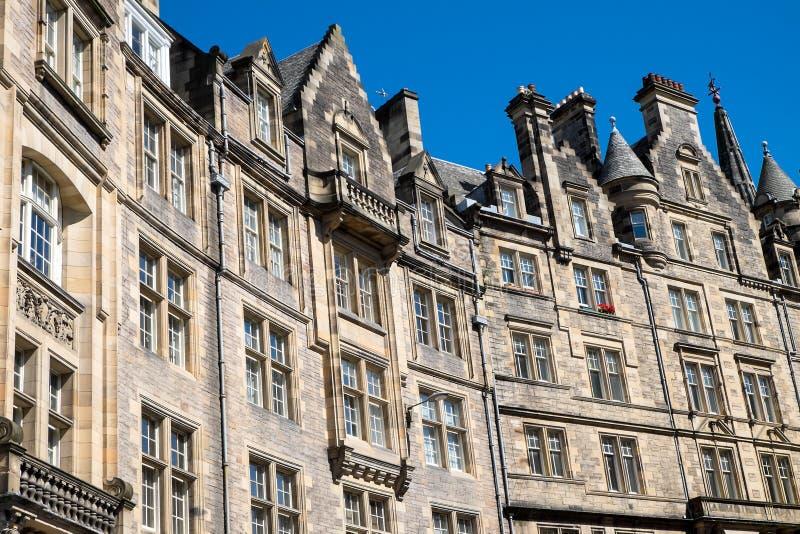 典型的大厦在爱丁堡 免版税库存照片
