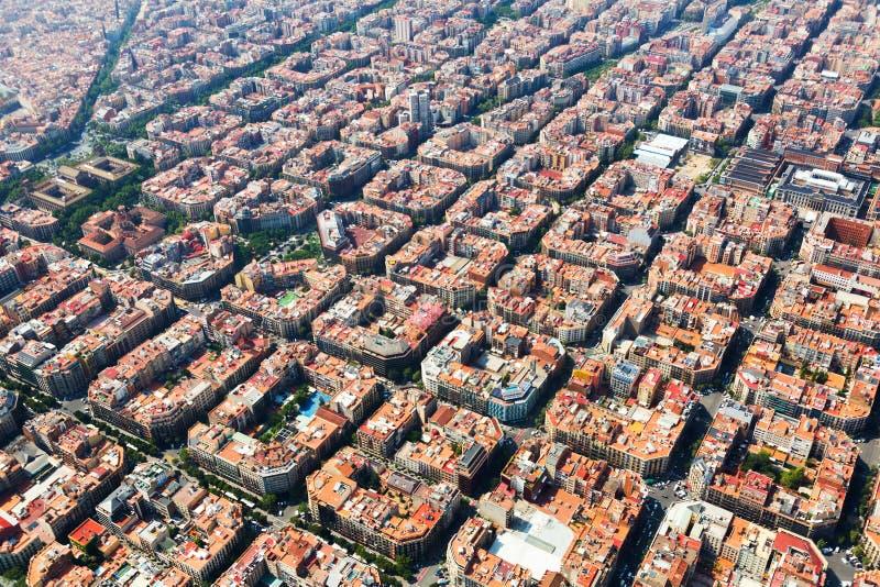 典型的大厦鸟瞰图在扩展区区的 Barcelo 库存照片