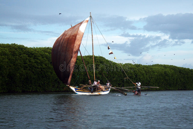 典型的小船 库存图片