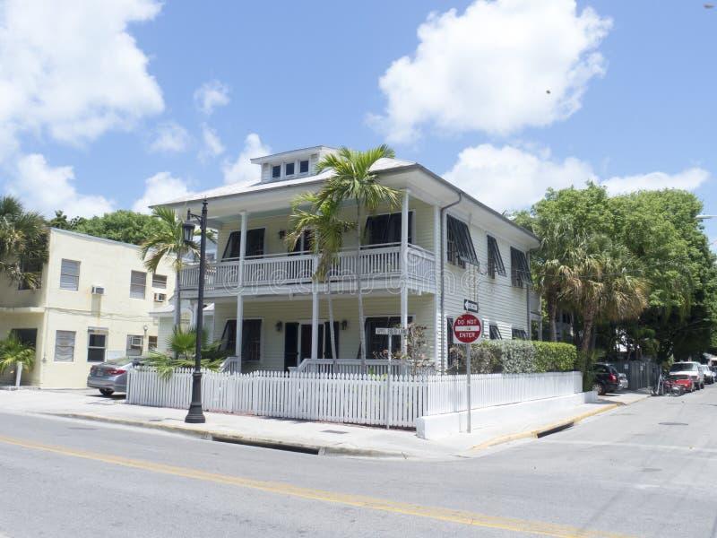 典型的房子在基韦斯特岛,佛罗里达 库存照片