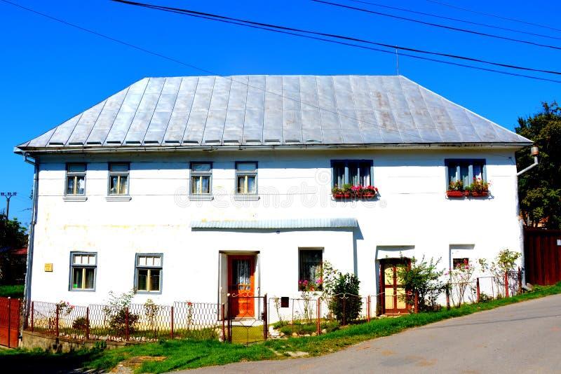 典型的房子在minning的村庄罗希亚蒙塔讷, Apuseni山 库存图片