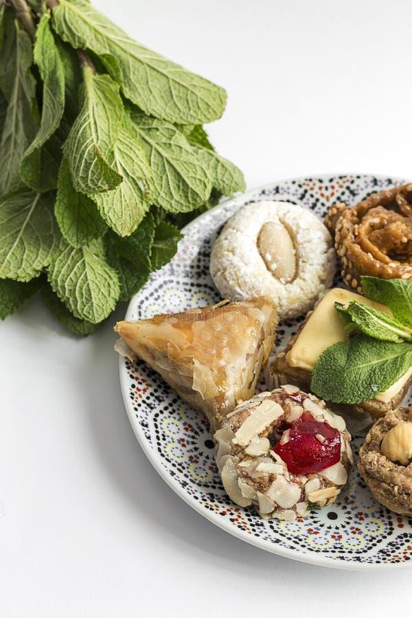 典型的摩洛哥甜点 自创 查出 库存图片